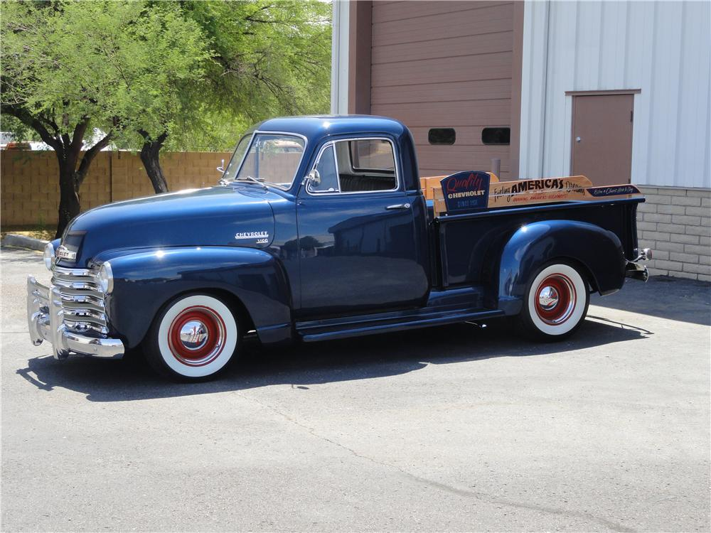 1951 CHEVROLET 3100 PICKUP - Side Profile - 157390