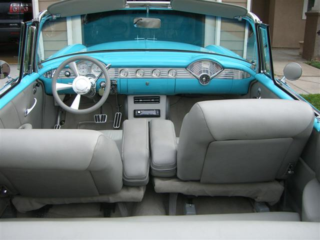 1955 CHEVROLET BEL AIR CUSTOM CONVERTIBLE - Interior - 157393