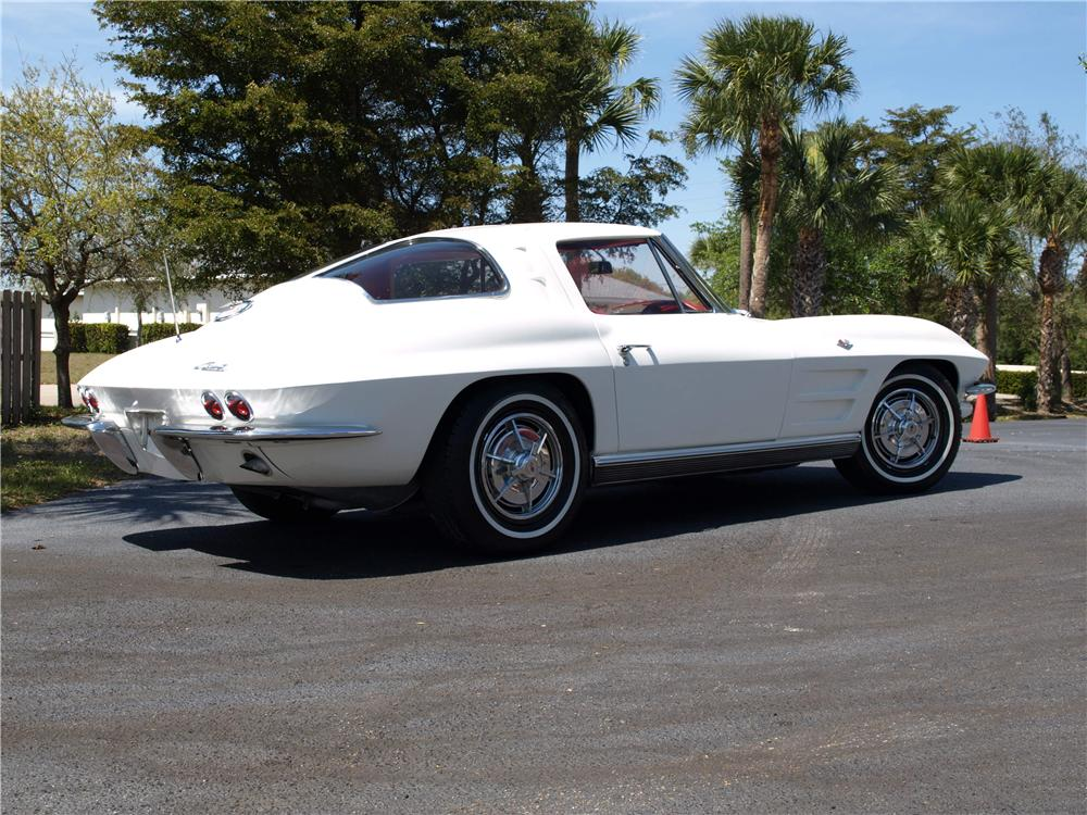 1963 CHEVROLET CORVETTE 2 DOOR COUPE - Rear 3/4 - 157395