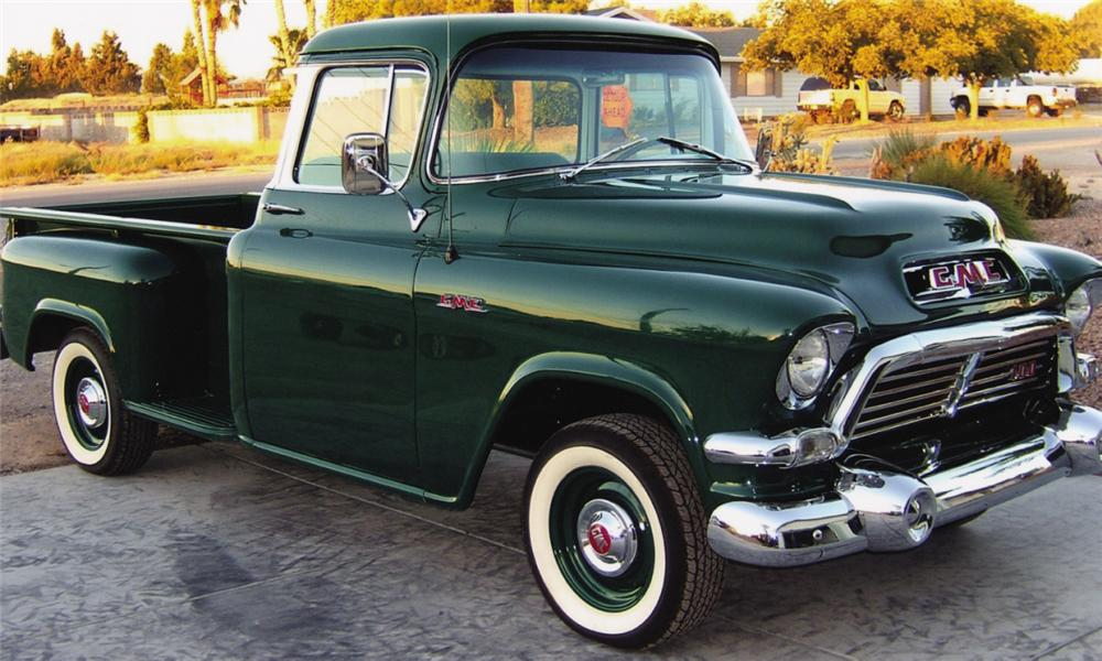 1957 GMC 1/2 TON STEP-SIDE PICKUP - Front 3/4 - 15742