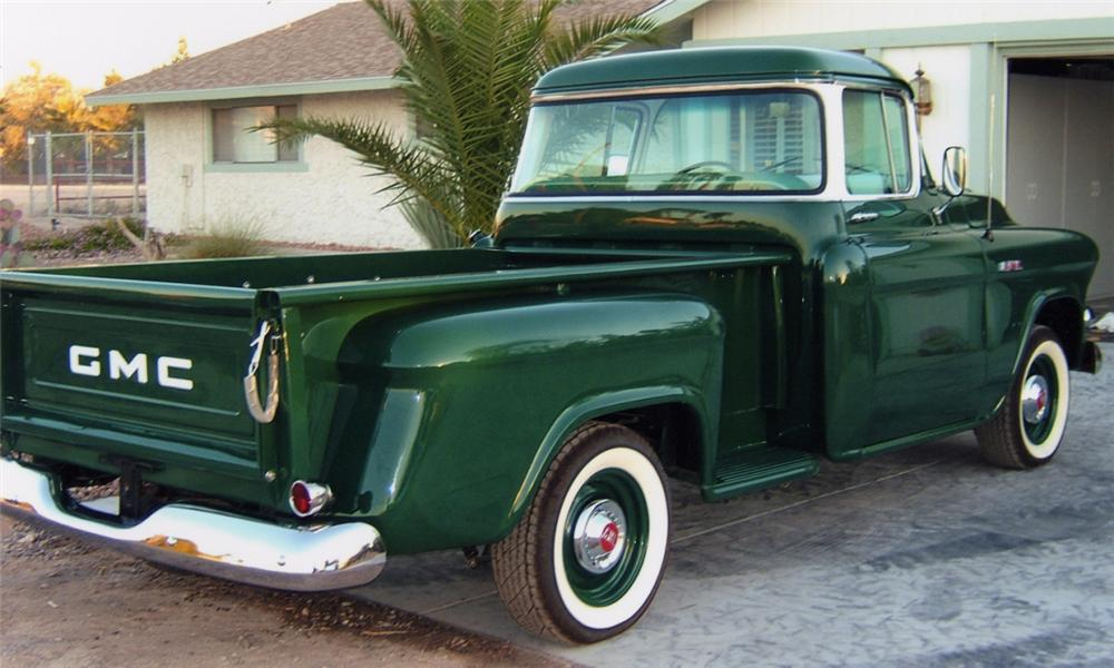 1957 GMC 1/2 TON STEP-SIDE PICKUP - Rear 3/4 - 15742