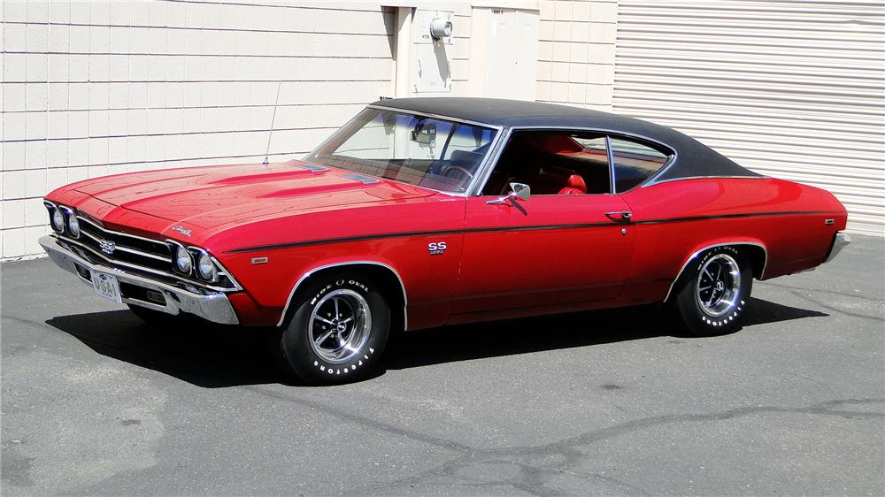 1969 CHEVROLET CHEVELLE SS 396 2 DOOR COUPE - Side Profile - 157424