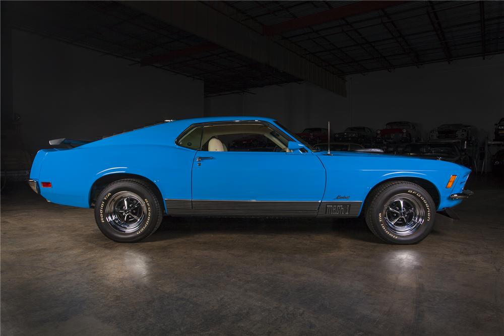 1970 FORD MUSTANG 428 CJ FASTBACK - Side Profile - 157444