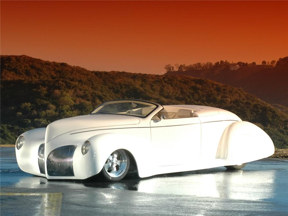 1939 lincoln zephyr custom convertible front 34 157460