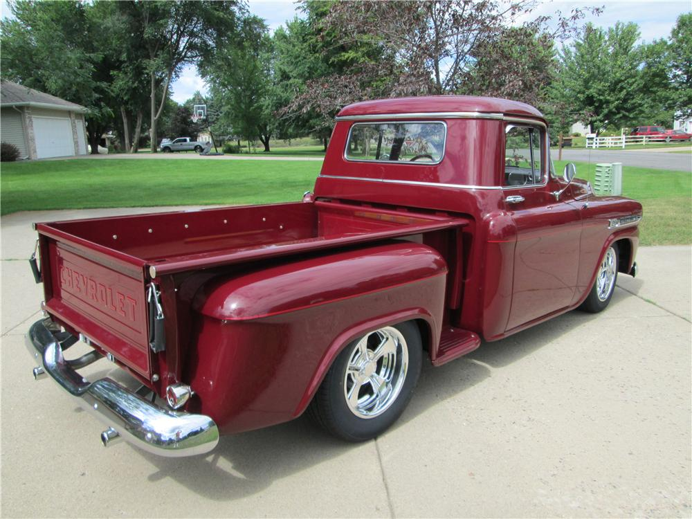 1959 CHEVROLET 3100 CUSTOM PICKUP - Rear 3/4 - 157488