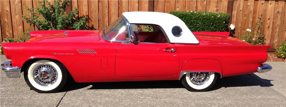1957 FORD THUNDERBIRD CONVERTIBLE - Side Profile - 157525