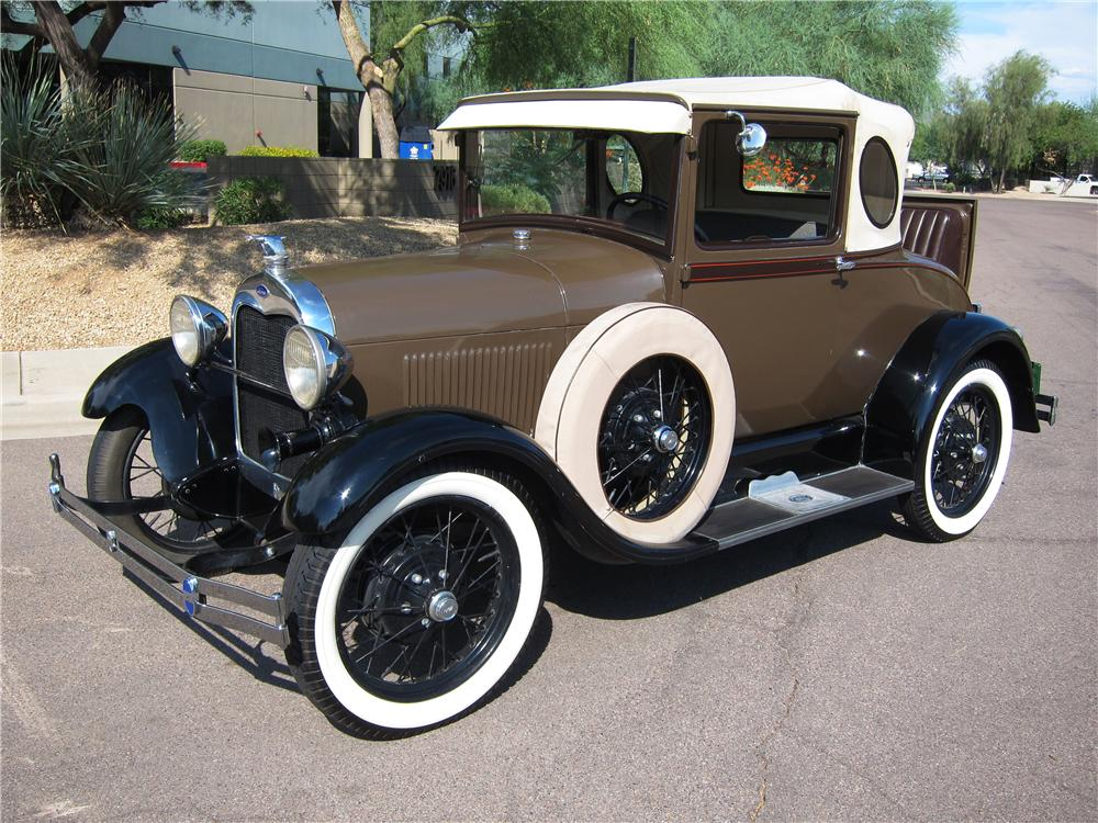 1929 FORD MODEL A OVAL WINDOW BUSINESS COUPE - Front 3/4 - 157559