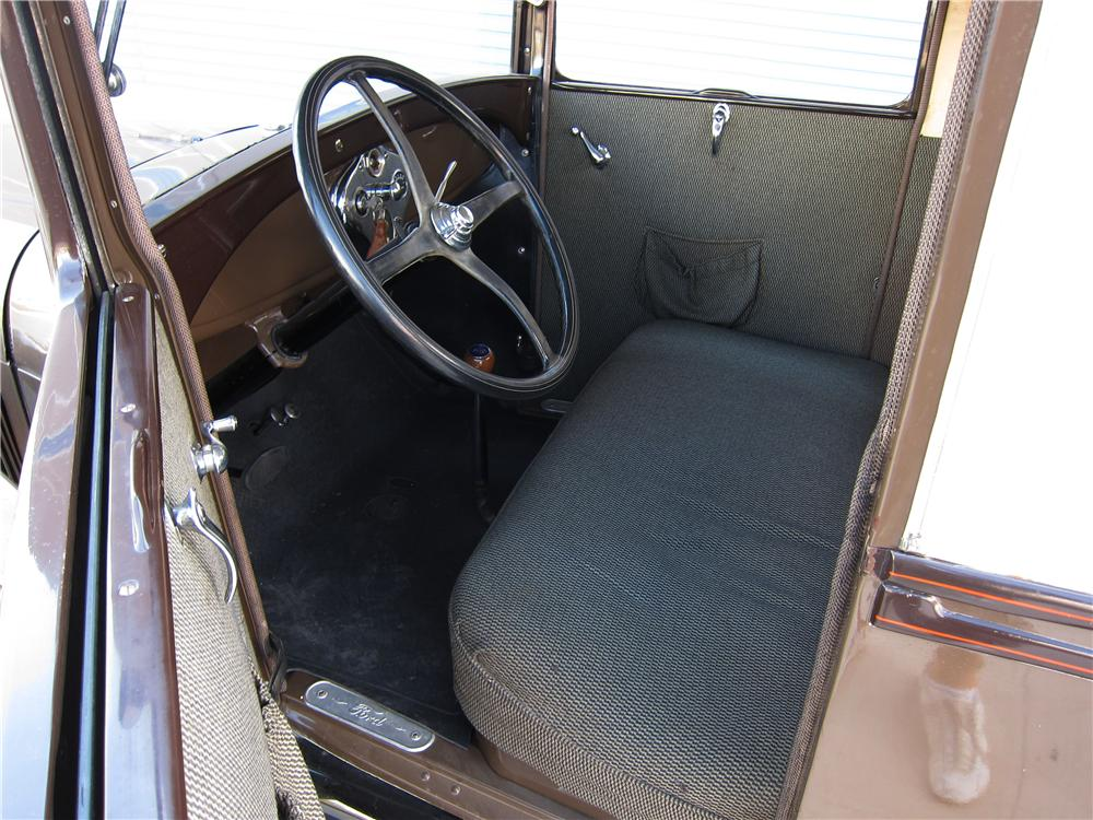 1929 FORD MODEL A OVAL WINDOW BUSINESS COUPE - Interior - 157559