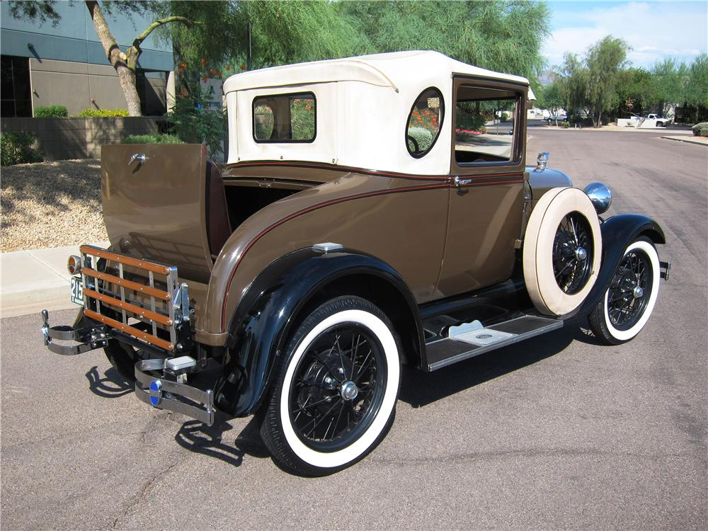 1929 FORD MODEL A OVAL WINDOW BUSINESS COUPE - Rear 3/4 - 157559