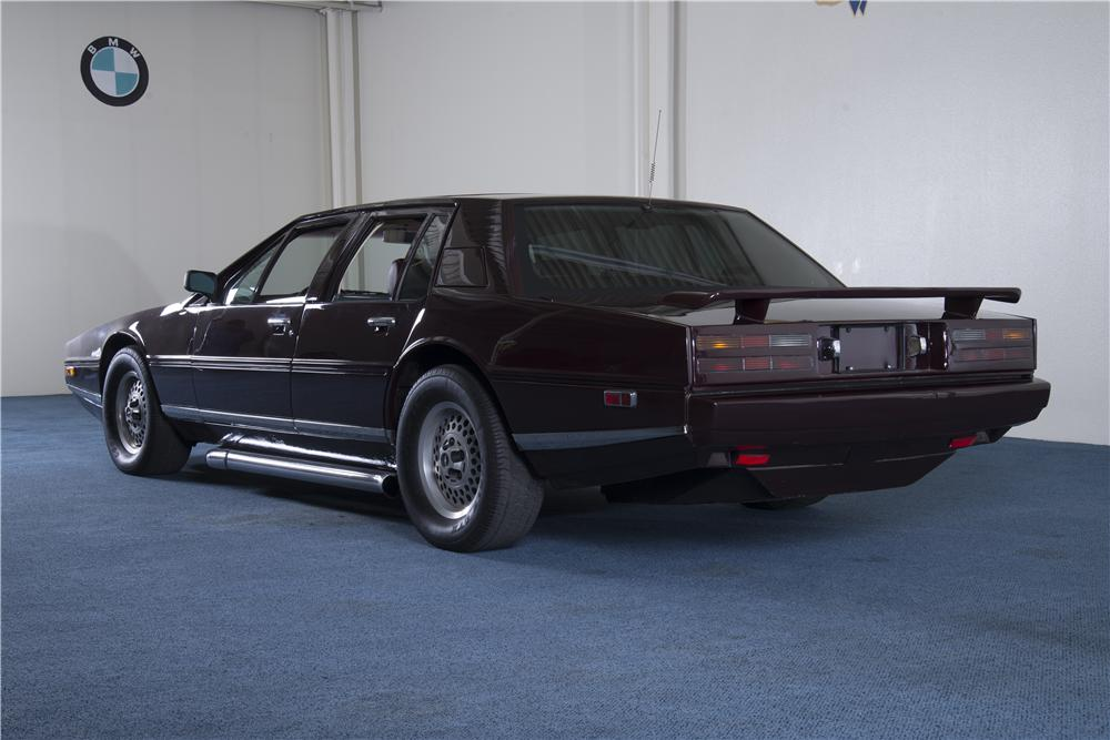 "1984 ASTON MARTIN LAGONDA CUSTOM SEDAN ""EVEL KNIEVELS"" - Rear 3/4 - 157570"