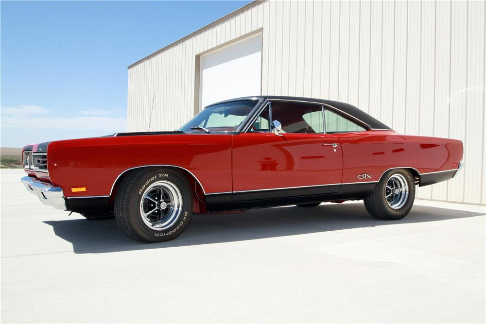 1969 PLYMOUTH GTX 2 DOOR COUPE - Side Profile - 157578