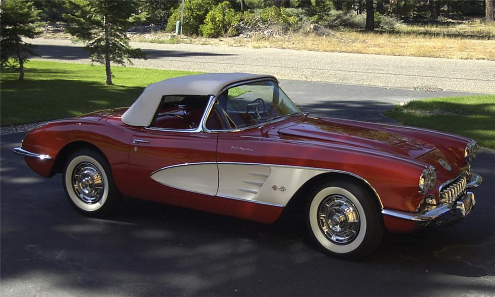 1959 CHEVROLET CORVETTE FI CONVERTIBLE - Engine - 15758