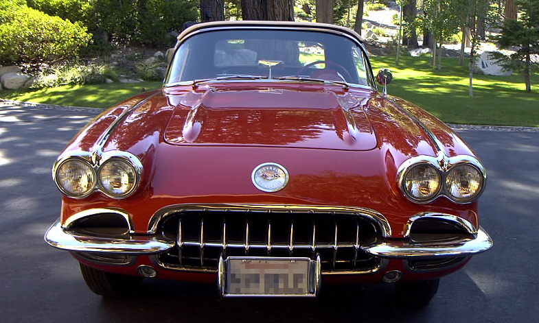 1959 CHEVROLET CORVETTE FI CONVERTIBLE - Side Profile - 15758