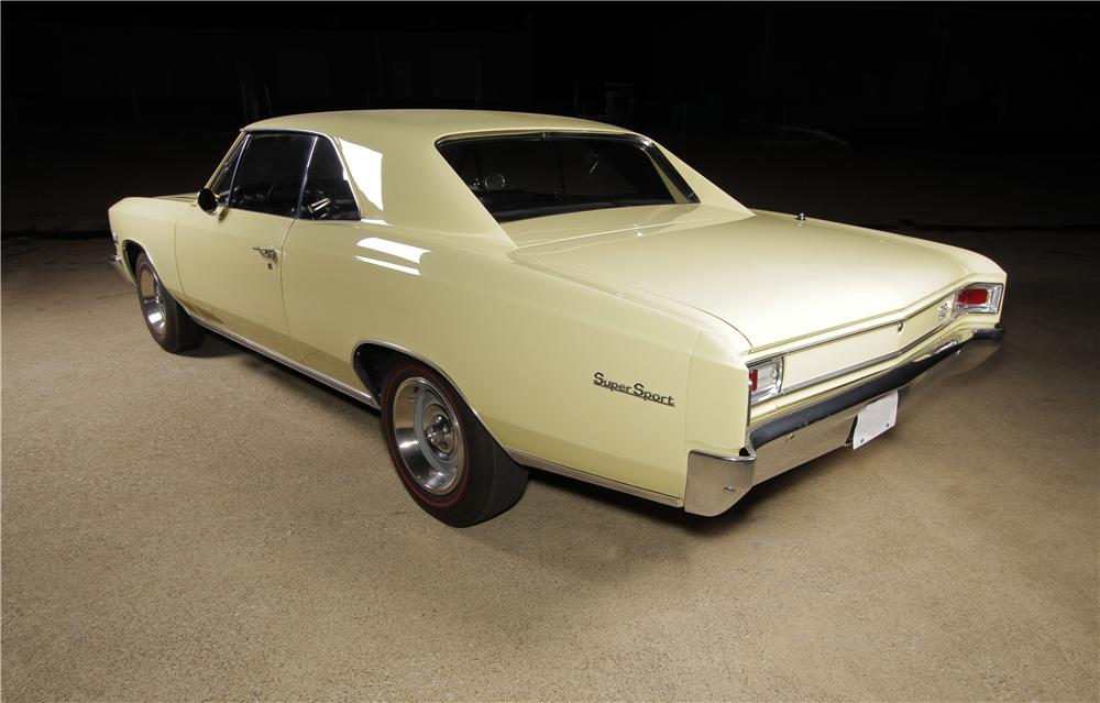 1966 CHEVROLET CHEVELLE SS 2 DOOR COUPE - Rear 3/4 - 157599