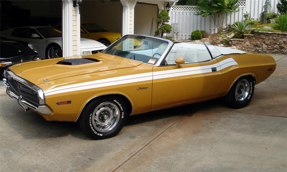 1971 DODGE CHALLENGER CONVERTIBLE - Side Profile - 15760