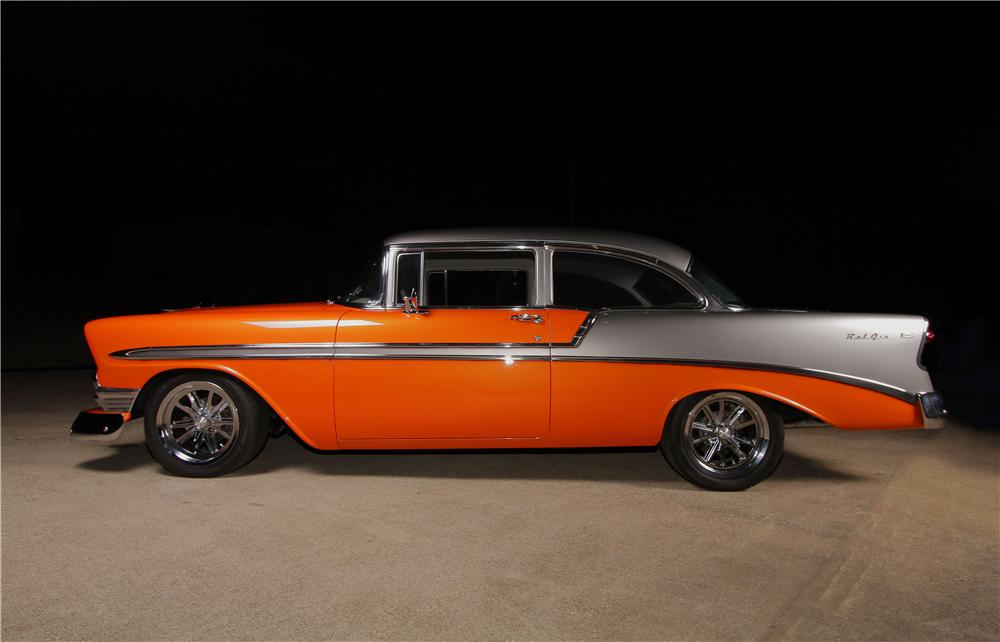 1956 chevrolet bel air custom 2 door sedan