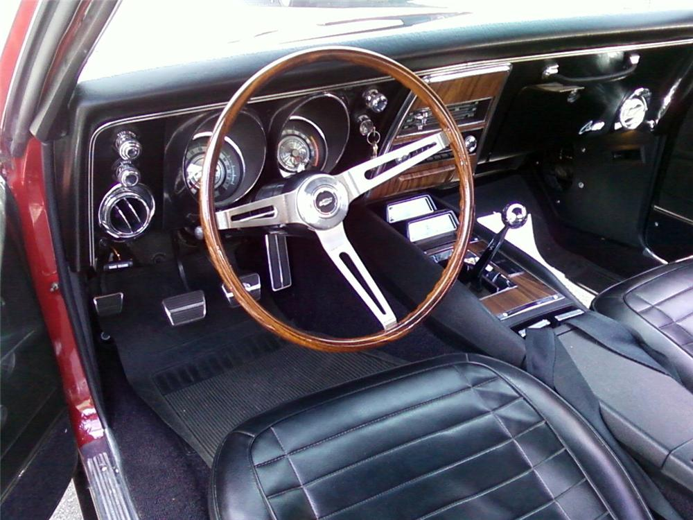 1968 CHEVROLET CAMARO RS CUSTOM 2 DOOR COUPE - Interior - 157612