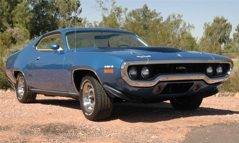 1971 PLYMOUTH GTX COUPE - Front 3/4 - 15762