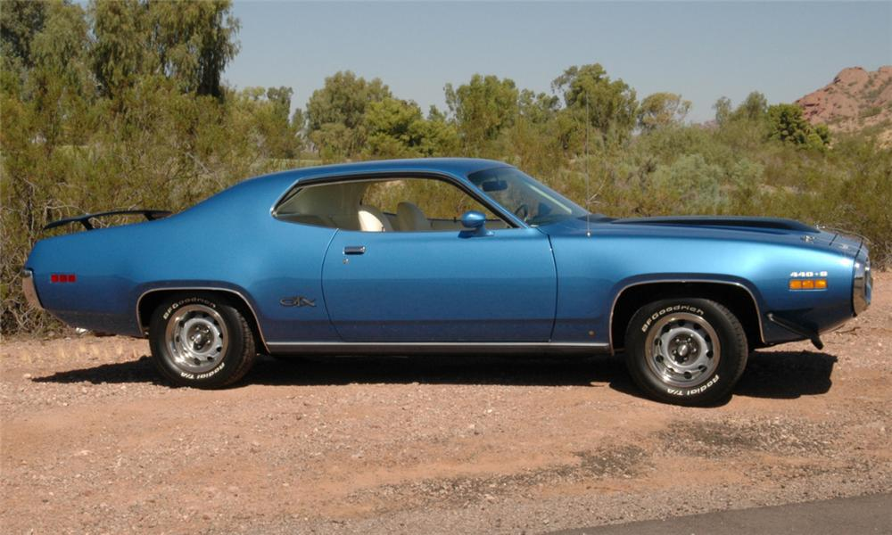 1971 PLYMOUTH GTX COUPE - Side Profile - 15762