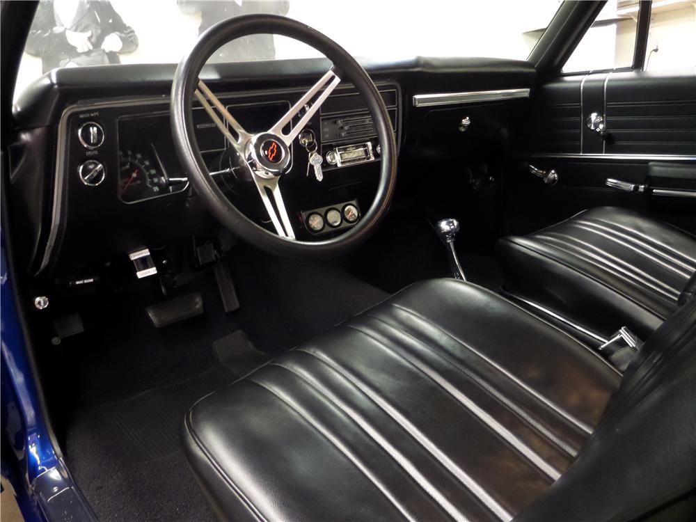 1968 CHEVROLET CHEVELLE 2 DOOR HARDTOP - Interior - 157620