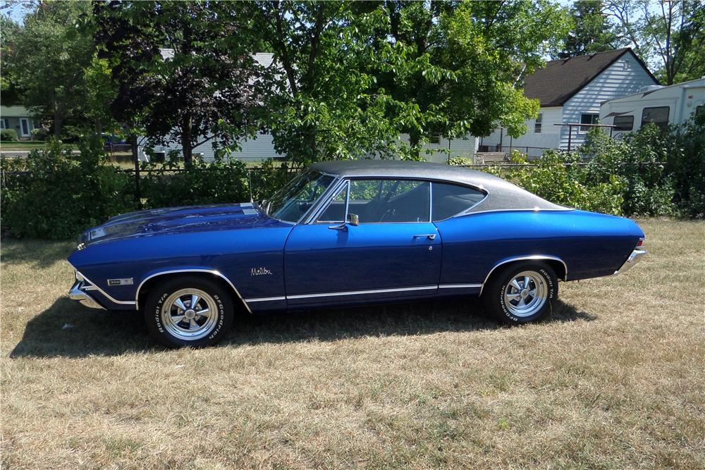 1968 CHEVROLET CHEVELLE 2 DOOR HARDTOP - Side Profile - 157620