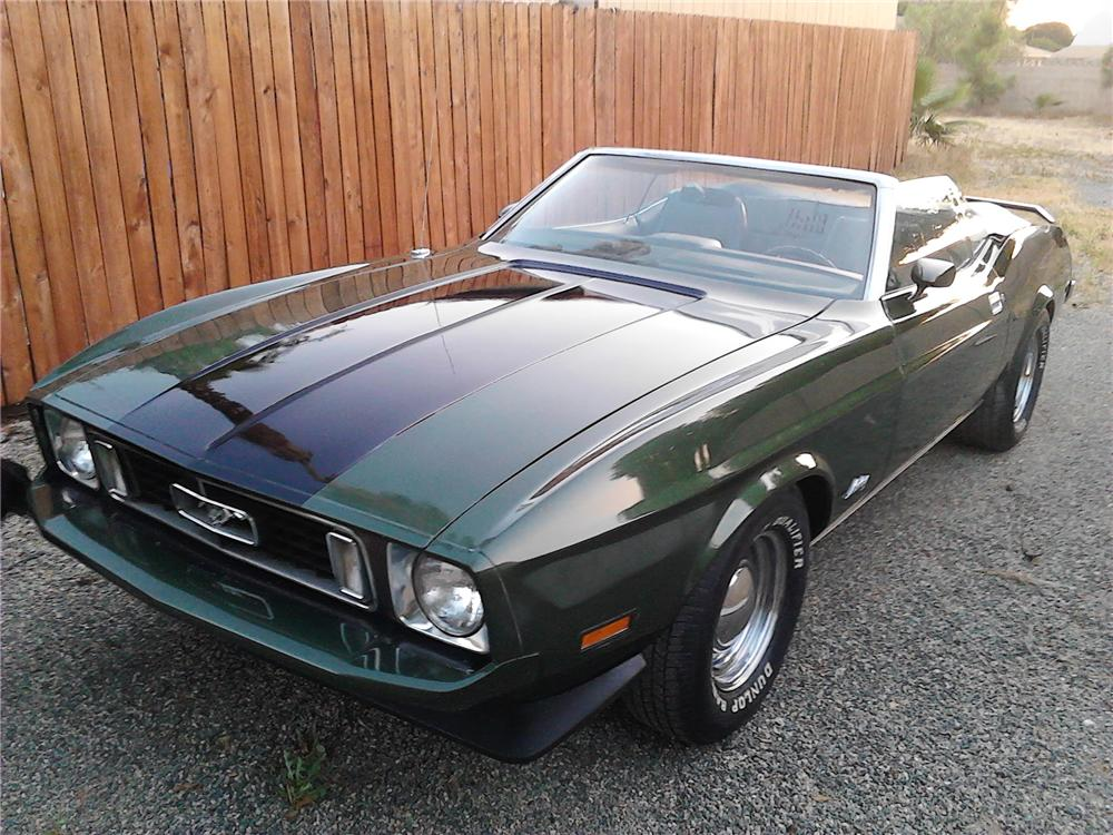 1973 FORD MUSTANG CONVERTIBLE - Front 3/4 - 157623