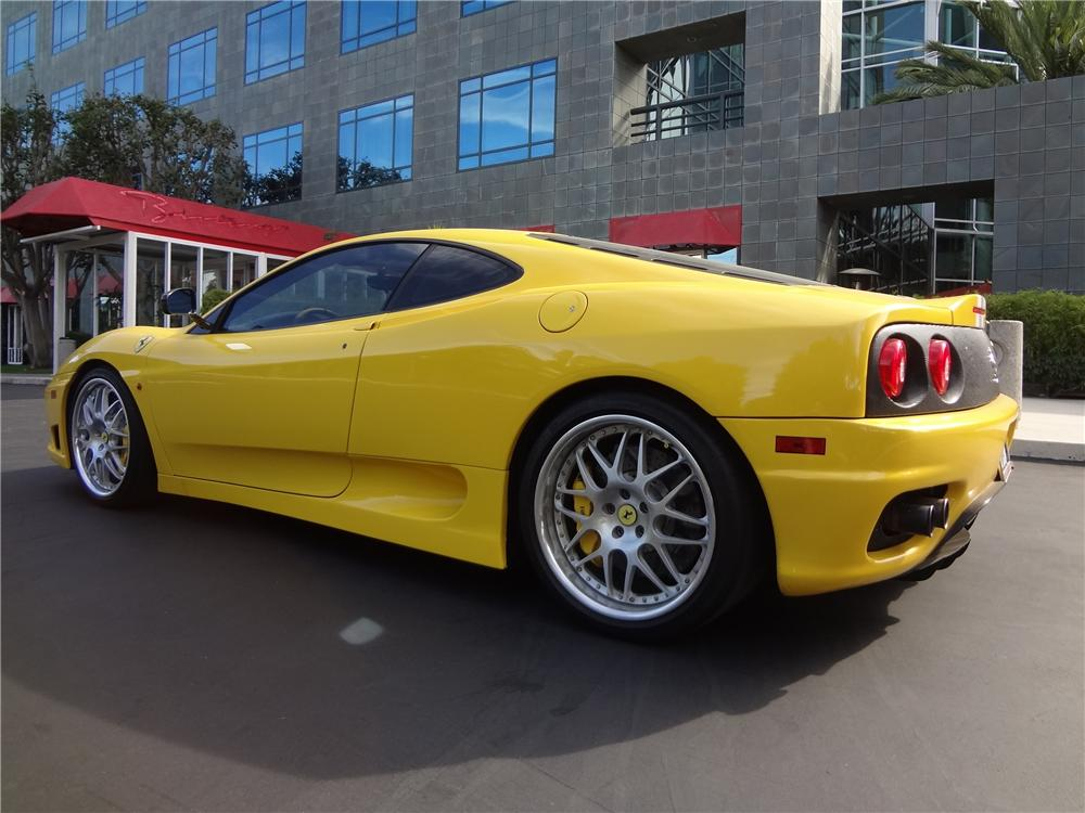 2004 FERRARI 360 CHALLENGE STRADALE 2 DOOR COUPE - Rear 3/4 - 157646