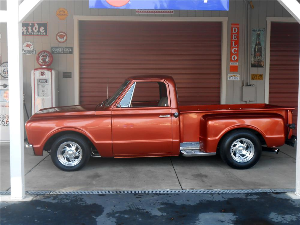 1968 CHEVROLET C-10 CUSTOM PICKUP - Side Profile - 157649