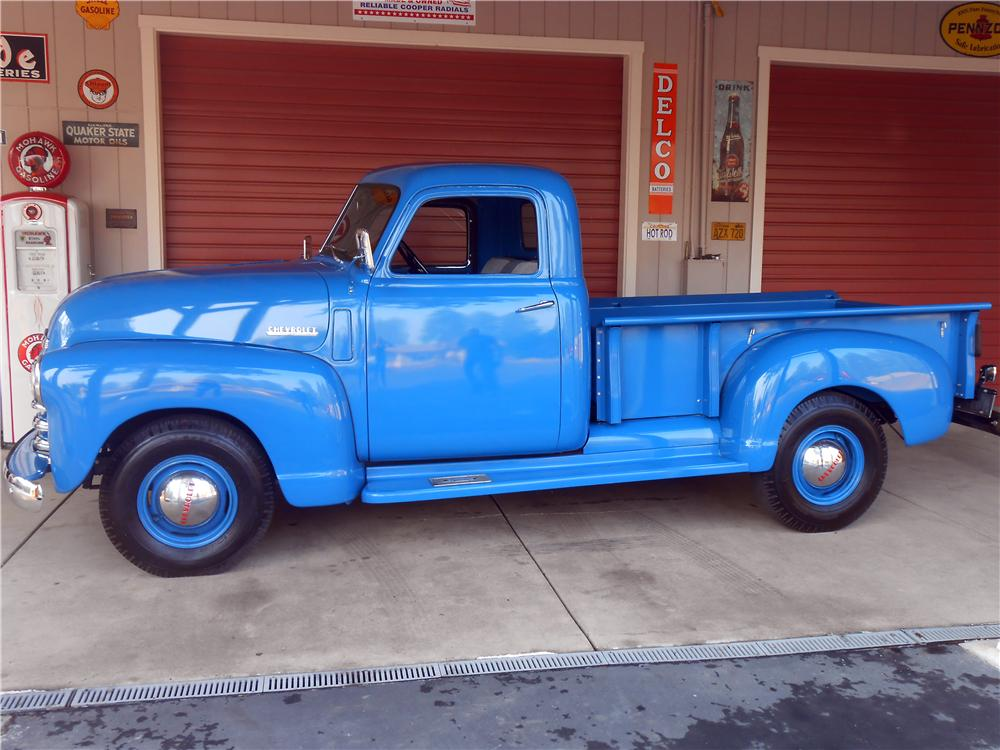 1950 CHEVROLET 3100 PICKUP - Side Profile - 157651