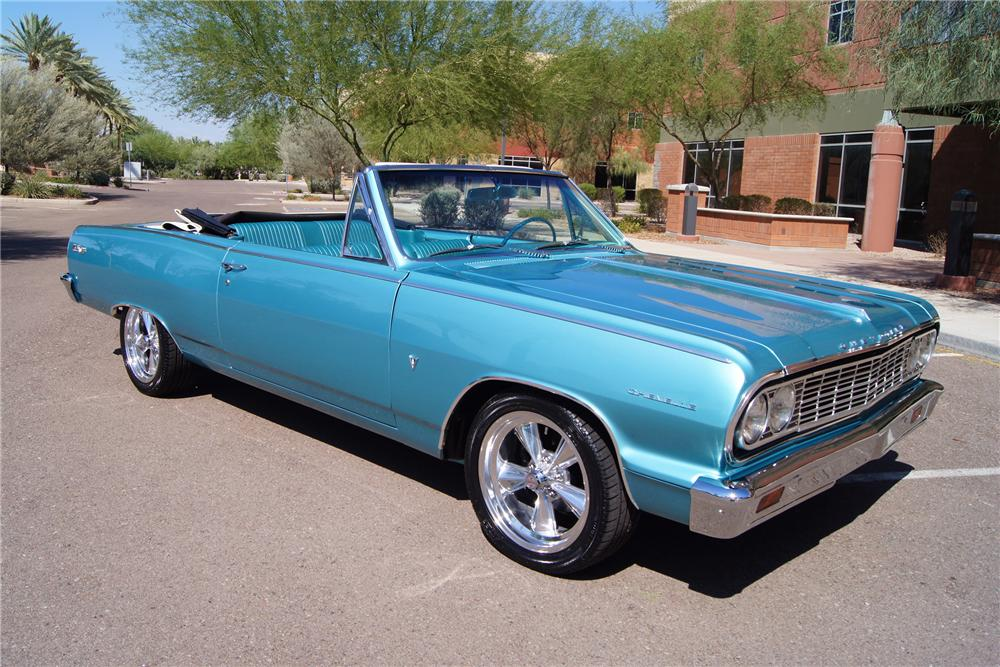 1964 CHEVROLET CHEVELLE MALIBU SS CONVERTIBLE - Front 3/4 - 157652