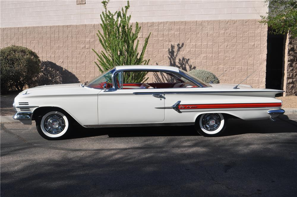 1960 CHEVROLET IMPALA 2 DOOR HARDTOP - Side Profile - 157660
