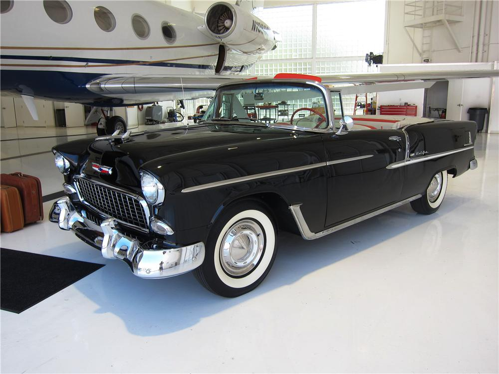 1955 CHEVROLET BEL AIR CONVERTIBLE - Front 3/4 - 157669