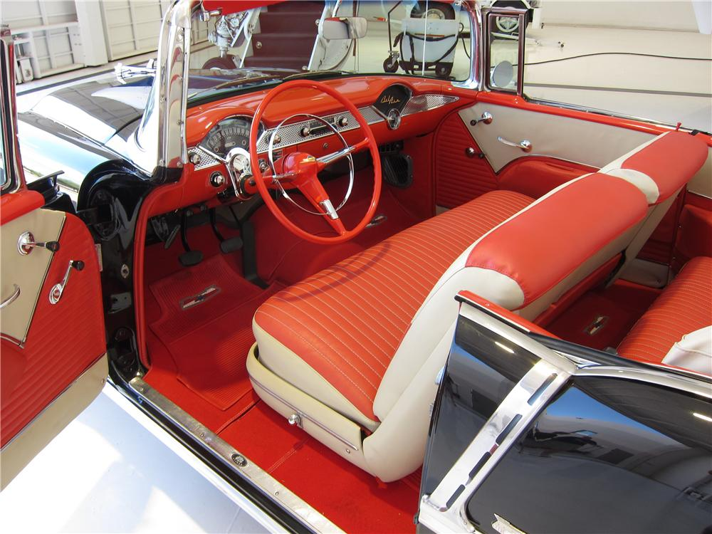 1955 CHEVROLET BEL AIR CONVERTIBLE - Interior - 157669