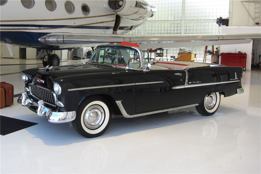 1955 CHEVROLET BEL AIR CONVERTIBLE - Side Profile - 157669