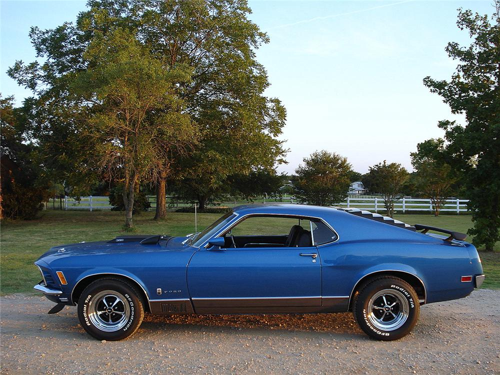 1970 FORD MUSTANG MACH 1 FASTBACK - Side Profile - 157678