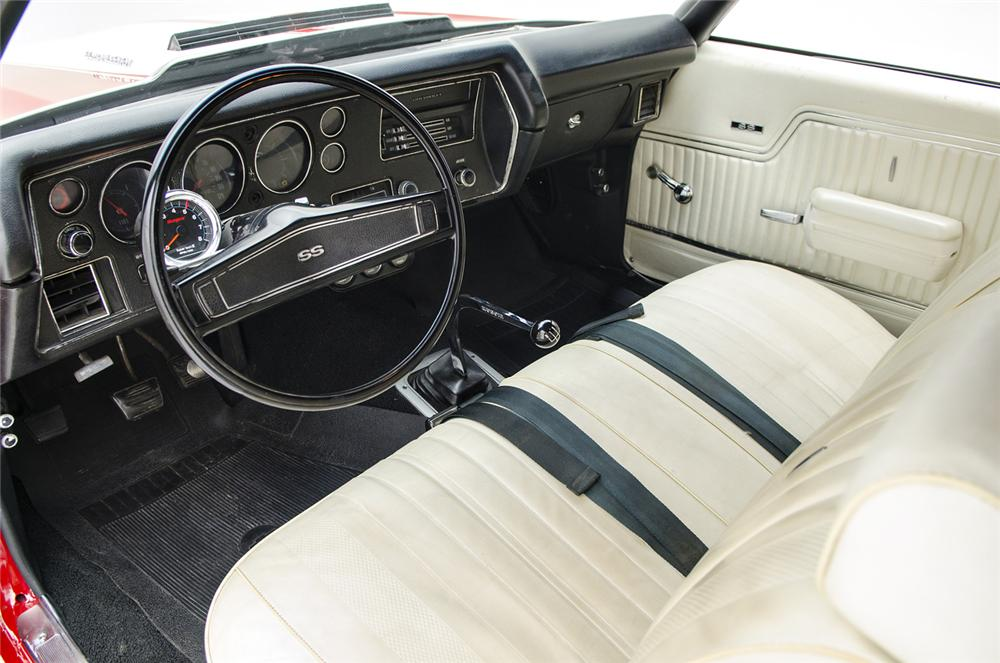1970 CHEVROLET CHEVELLE SS 2 DOOR COUPE - Interior - 157684