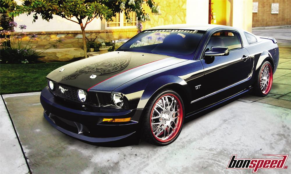 "2005 FORD MUSTANG GT ""BLACK ROSE"" CONCEPT CAR - Front 3/4 - 15769"