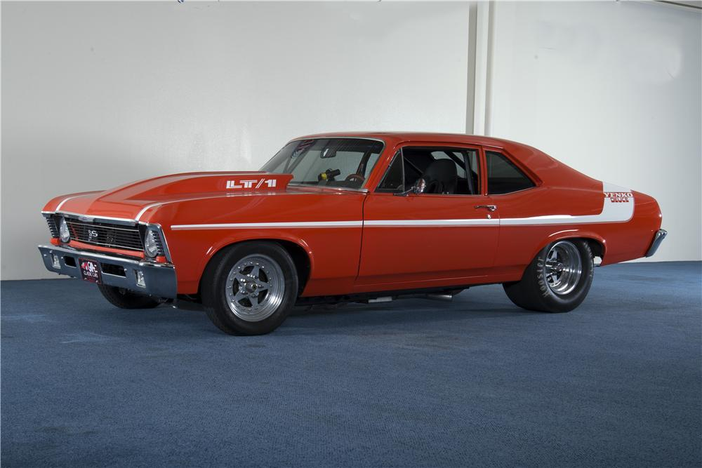 1970 CHEVROLET NOVA CUSTOM 2 DOOR HARDTOP - Front 3/4 - 157690
