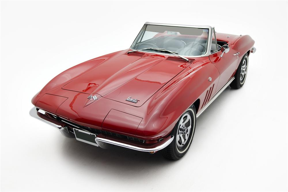1966 CHEVROLET CORVETTE CONVERTIBLE - Front 3/4 - 157691