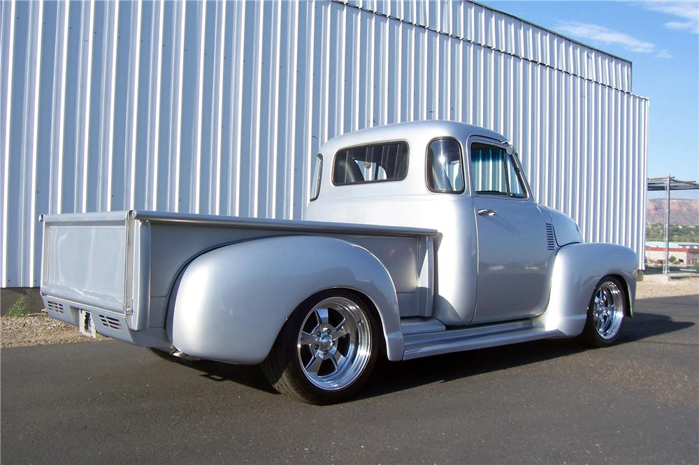 1954 CHEVROLET 3100 CUSTOM PICKUP - Rear 3/4 - 157698