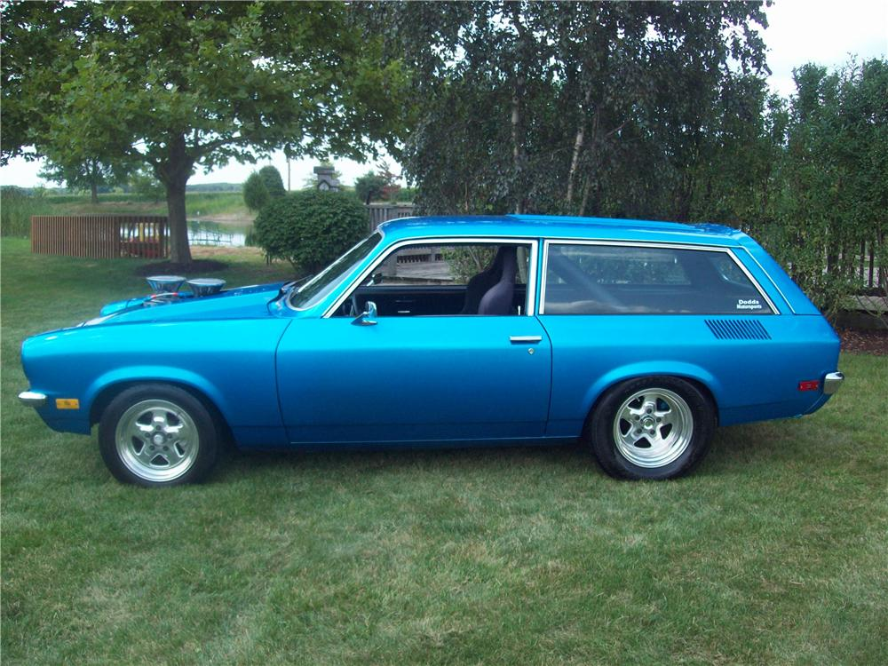 1972 CHEVROLET VEGA CUSTOM WAGON - Side Profile - 157705