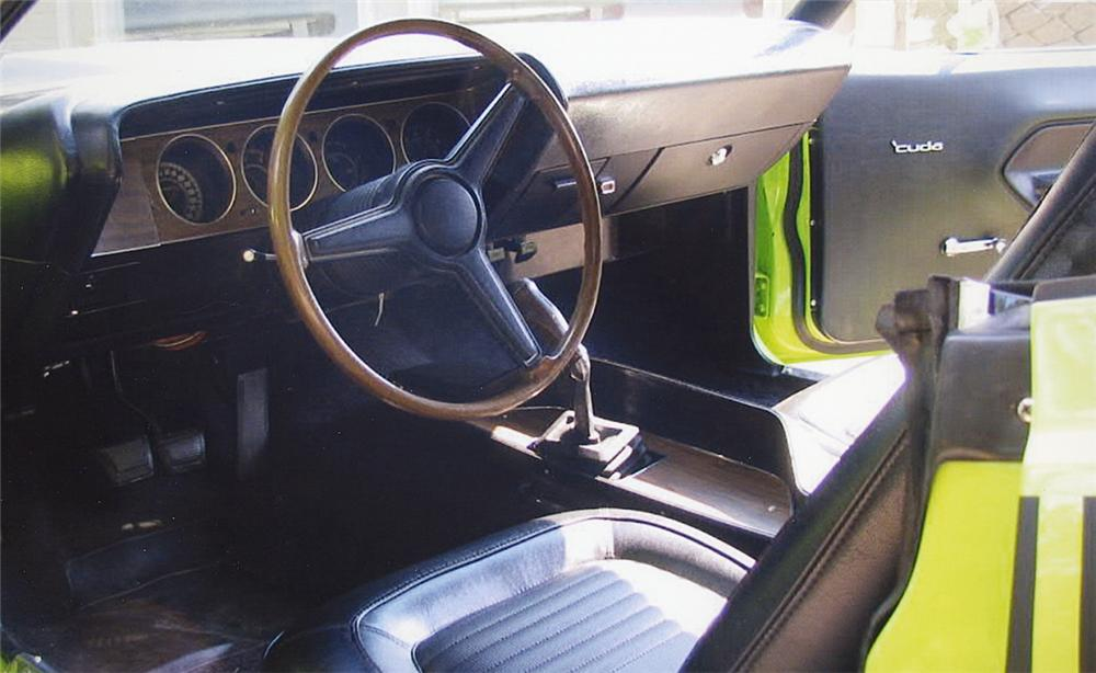1970 PLYMOUTH CUDA AAR 2 DOOR HARDTOP - Interior - 15771