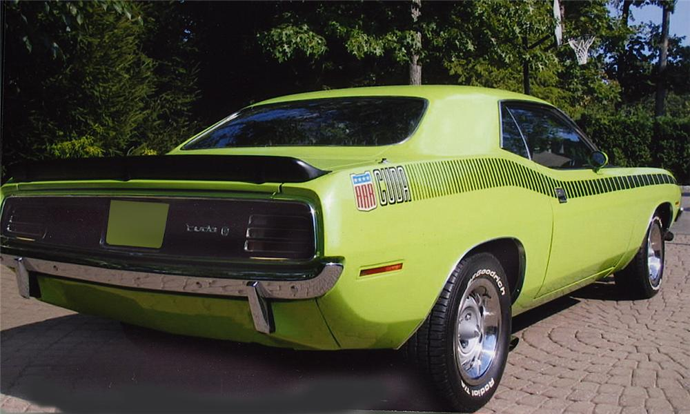1970 PLYMOUTH CUDA AAR 2 DOOR HARDTOP - Rear 3/4 - 15771