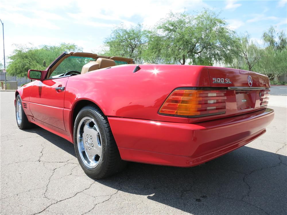 1991 MERCEDES-BENZ 500SL CONVERTIBLE - Rear 3/4 - 157723