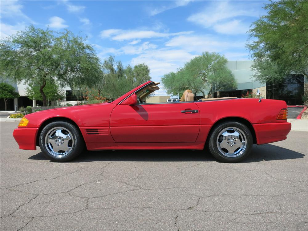 1991 MERCEDES-BENZ 500SL CONVERTIBLE - Side Profile - 157723