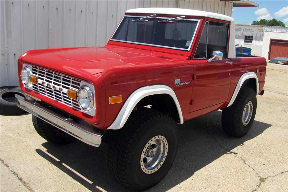 1974 FORD BRONCO CUSTOM HALF CAB - Front 3/4 - 157729