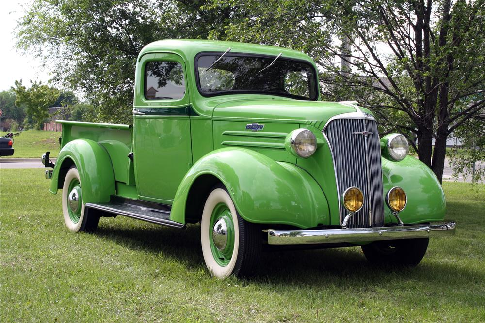 1937 CHEVROLET GC PICKUP - Front 3/4 - 157741