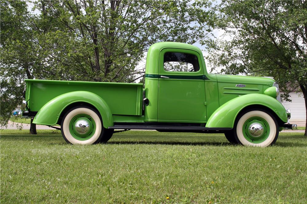 1937 CHEVROLET GC PICKUP - Side Profile - 157741