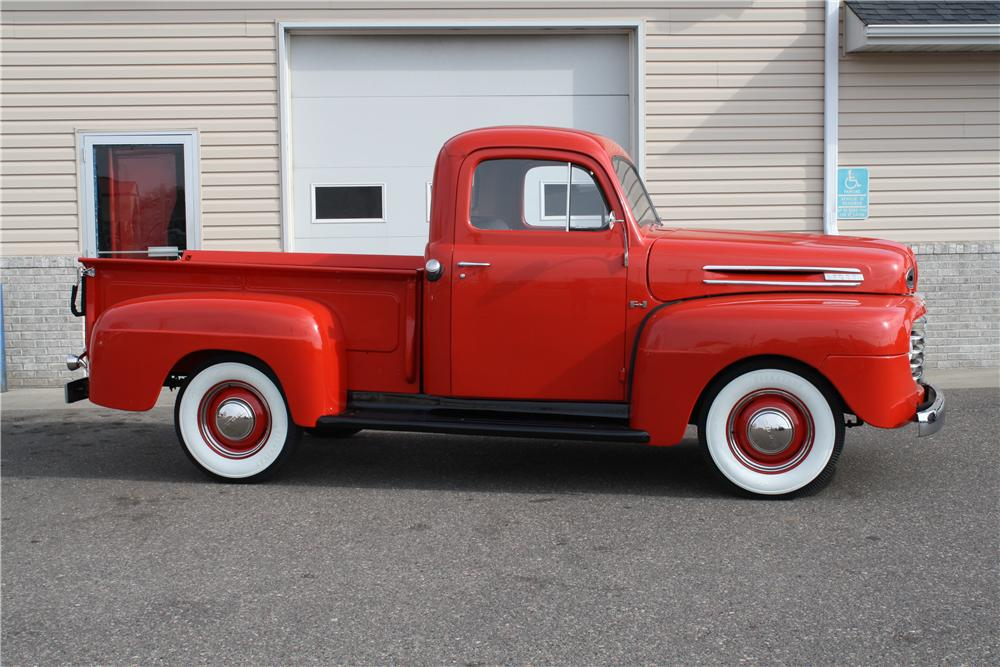 1950 FORD F-1 PICKUP - Side Profile - 157742