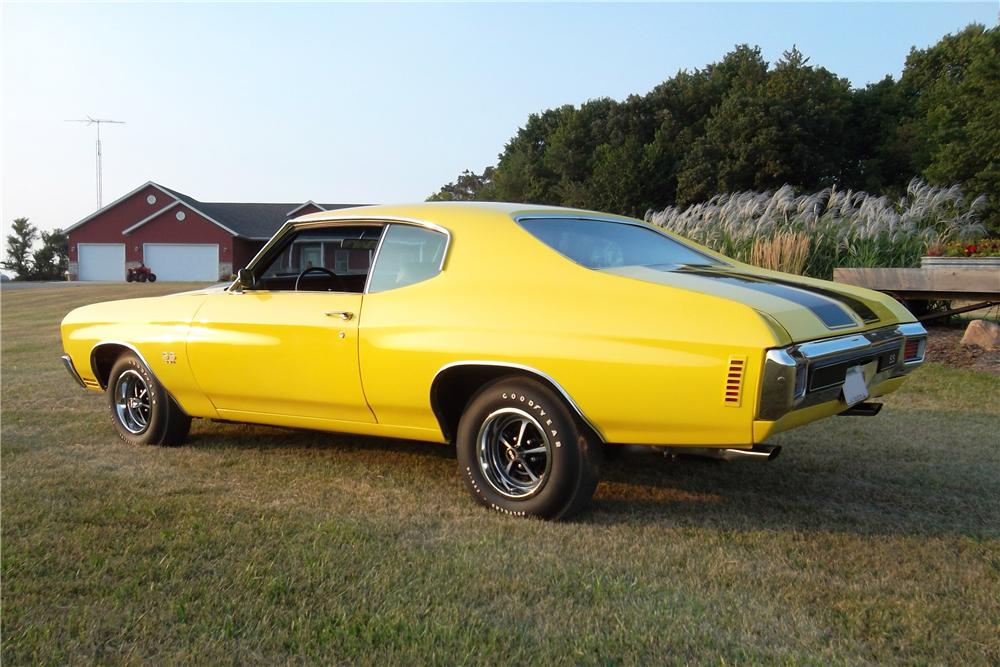 1970 CHEVROLET CHEVELLE SS 2 DOOR COUPE - Rear 3/4 - 157743